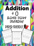 Math Fact Fluency +0 (Addition Timed Test)