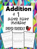 Math Fact Fluency +1 (Addition Timed Test)