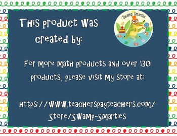 Math Fact Fluency- 10 More, 10 Less
