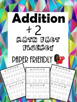 Math Fact Fluency +2 (Addition Timed Test)