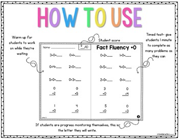 Fact Fluency Addition and Subtraction