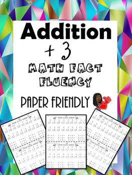 Math Fact Fluency +3 (Addition Timed Test)