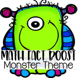 Math Fact Fluency Activities { Monster Theme }