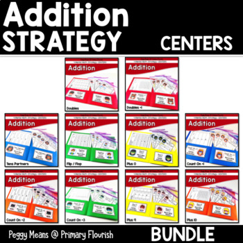 Math Fact Fluency Addition Centers {Bundle}