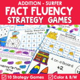 Math Fact Fluency Addition Games - Summer Theme