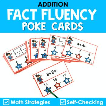 Math Fact Fluency Addition Poke Cards - Super Hero Theme