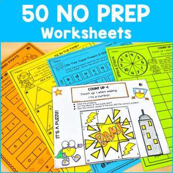 Math Fact Fluency Addition Printables - Super Hero Theme