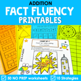 Math Fact Fluency Addition Printables - Super Hero Theme