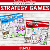 Math Fact Fluency Addition & Subtraction Games - KARATE Th