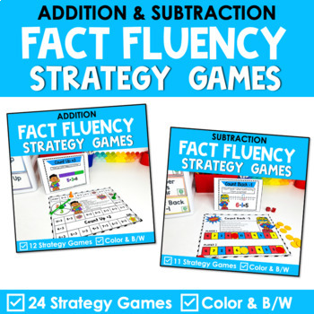 Math Fact Fluency Addition & Subtraction Games - Super Hero Theme