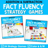 Math Fact Fluency Addition & Subtraction Games - Super Hero Theme BUNDLE