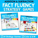 Math Fact Fluency Addition & Subtraction Games | Super Hero Theme BUNDLE