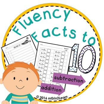 Math Fact Fluency Addition Subtraction Sprints First Grade