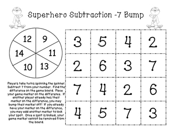 Math Fact Fluency: Addition and Subtraction Bump Games Bundle