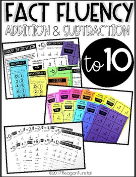 Math Fact Fluency Addition and Subtraction to 10