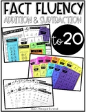 Math Fact Fluency Addition and Subtraction to 20