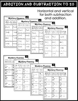 Math Fact Fluency Addition and Subtraction to 20 - Halloween Edition