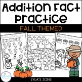 Math Fact Fluency Addition to 20 - Fall