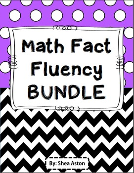 Math Fact Fluency Bundle