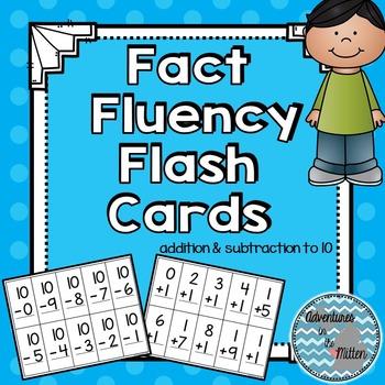 Math Fact Fluency Cards