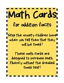 Math Fact Fluency Cards-Addition