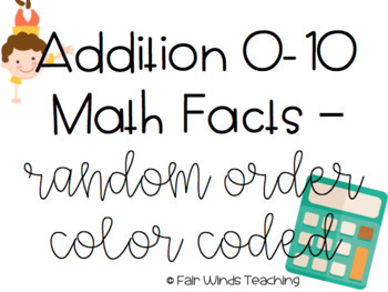 Math Fact Fluency Cards - Digital Edition