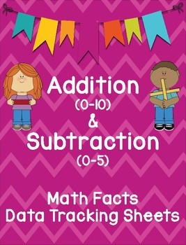 Math Fact Fluency Data Tracking Sheets for Addition & Subtraction