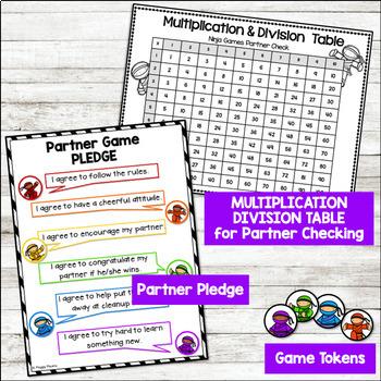 Math Fact Fluency {Division Games}