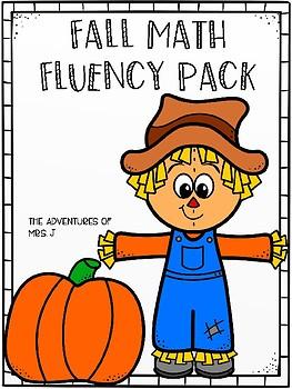 Math Fact Fluency: Fall Pack