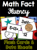 Math Fact Fluency Flash Cards and Data Sheets