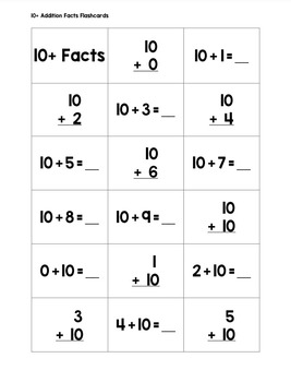 Math Fact Fluency Flashcards