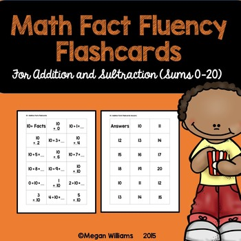 Math Fact Fluency Flashcards