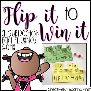 Math Fact Fluency Flip It to Win It {Subtraction}