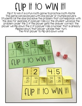 Math Fact Fluency Flip It to Win It {The Bundle}