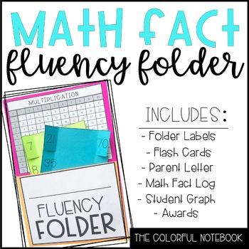 Math Fact Fluency Folder & Math Fact Log