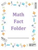 Math Fact Fluency Folders