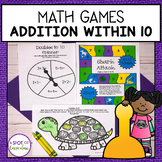 Addition within 10 Math Fact Fluency Games