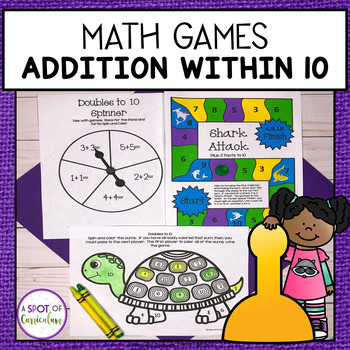 Math Fact Fluency Games - Addition within 10
