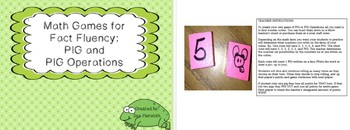Math Fact Fluency Games: PIG and PIG Operations