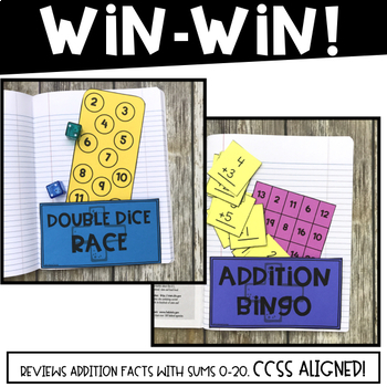 Math Fact Fluency Games: Pocket Games