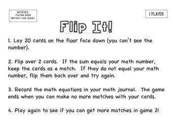 Math Fact Fluency Games: Ready To Use Centers