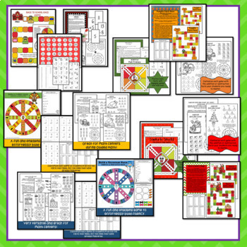 Math Fact Fluency Games Year Long Bundle for Addition and Subtraction