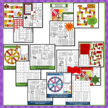 Math Fact Fluency Games Year-Long Bundle for Multiplication and Division