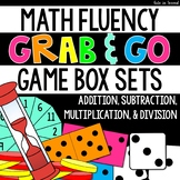 """Math Fact Fluency Task Boxes """"Grab and Go!"""" Games Bundle"""