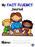 Math Fact Fluency Journal with Student Graph