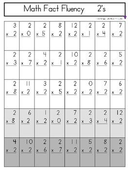 Math Fact Fluency - Multiplication