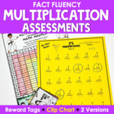 Multiplication Facts Assessments and Brag Tags