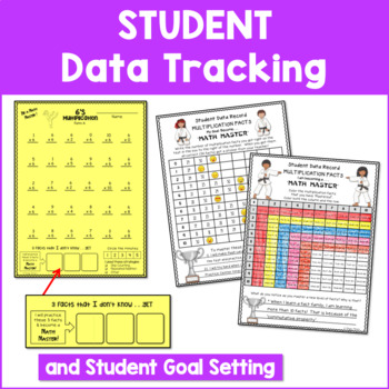Multiplication Facts Assessments and Brag Tags - Karate Theme