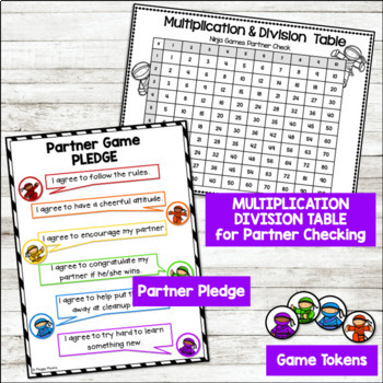 Multiplication Games and Division Games (Math Fact Fluency)