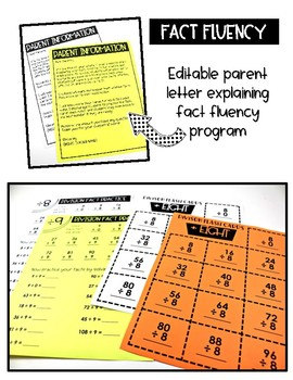 Math Fact Fluency Multiplication and Division to 12